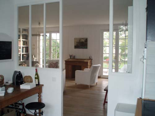 Location ile de r maison 8 personnes for Separation vitree entre cuisine et salon