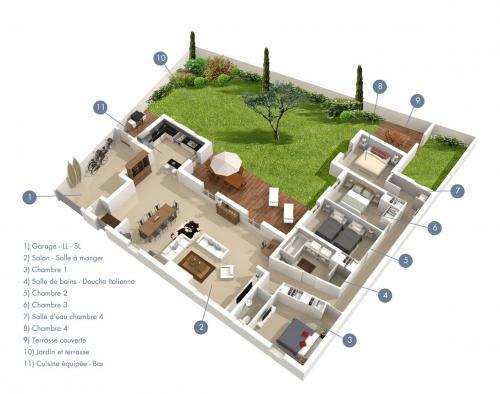 Plan de maison 400m2 for Faire un plan de maison gratuitement