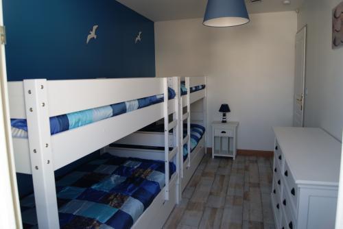 Location ile de r spacieuse maison 4 toiles en bord - Chambre ambiance mer ...