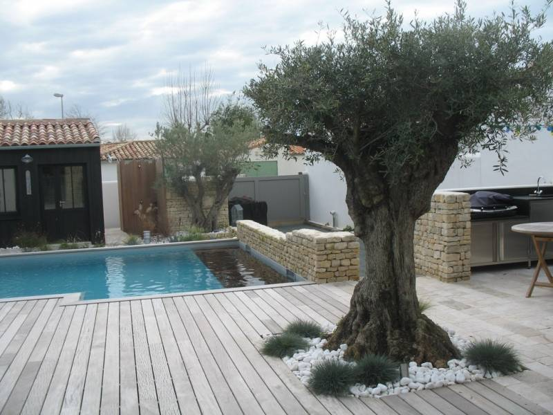 Location ile de r villa haut de gamme piscine for Cuisine d ete piscine