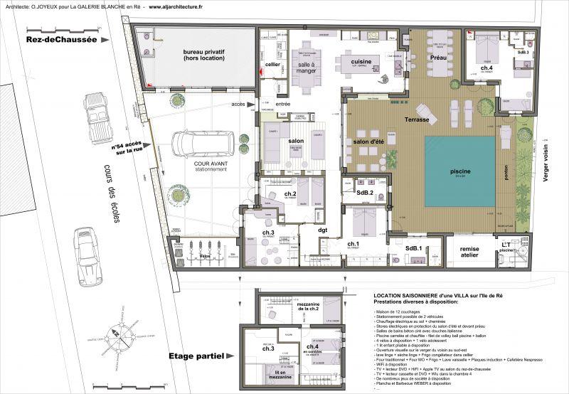 Plan maison ile de re for Maison moderne ile de re